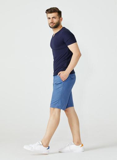 Sementa V Yaka Erkek Basic Tshirt - Lacivert Lacivert